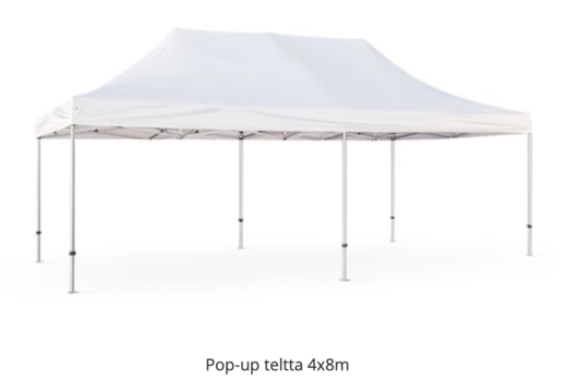 Pop-up teltta 4x8m, Poistotuote